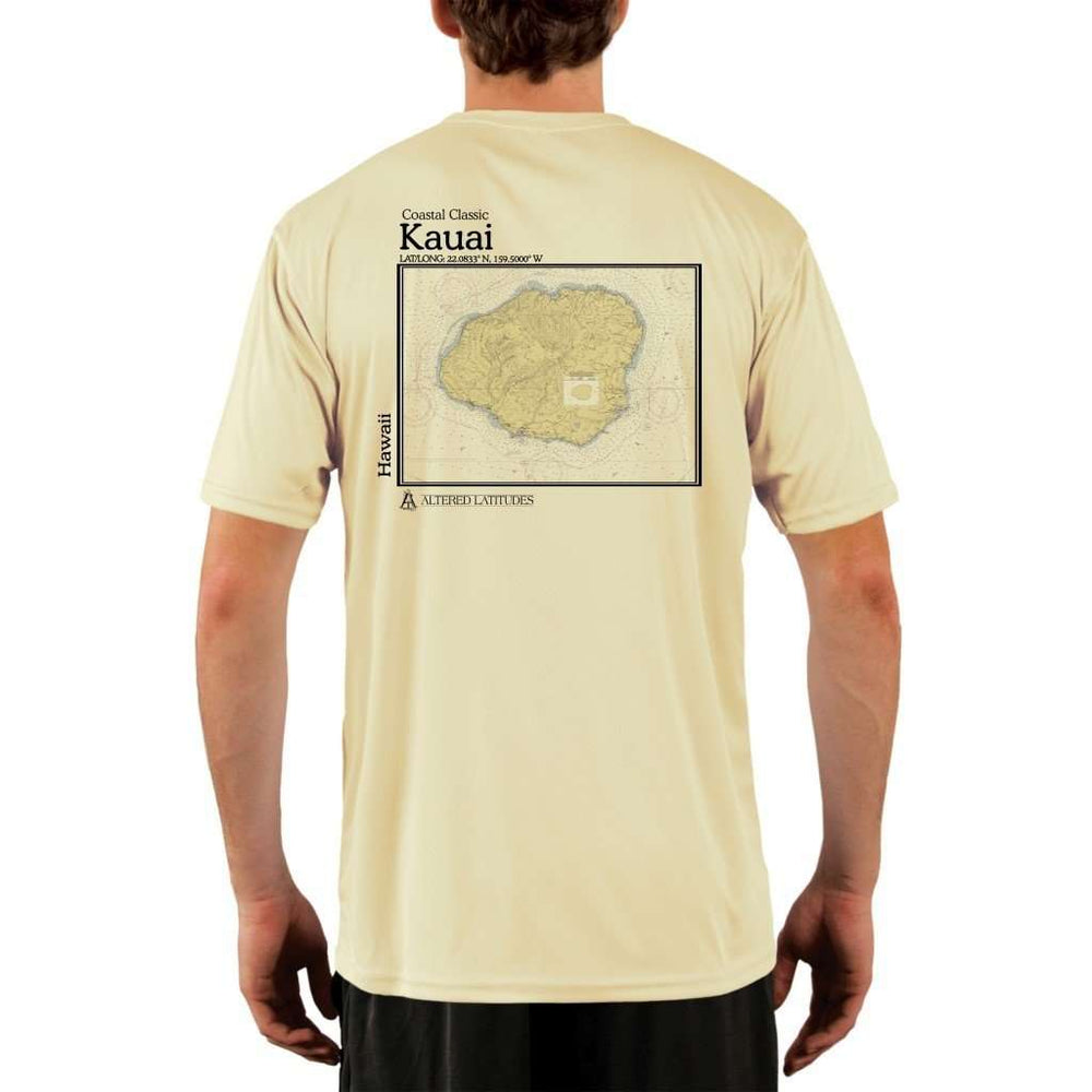 Coastal Classics Kauai Mens Upf 5+ Uv/sun Protection Performance T-Shirt Pale Yellow / X-Small Shirt