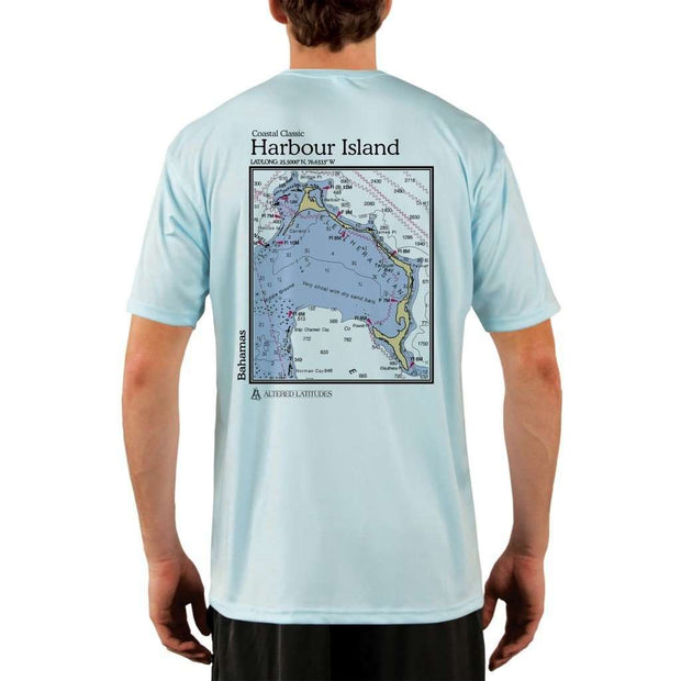 Coastal Classics Harbour Island Mens Upf 5+ Uv/sun Protection Performance T-Shirt Arctic Blue / X-Small Shirt