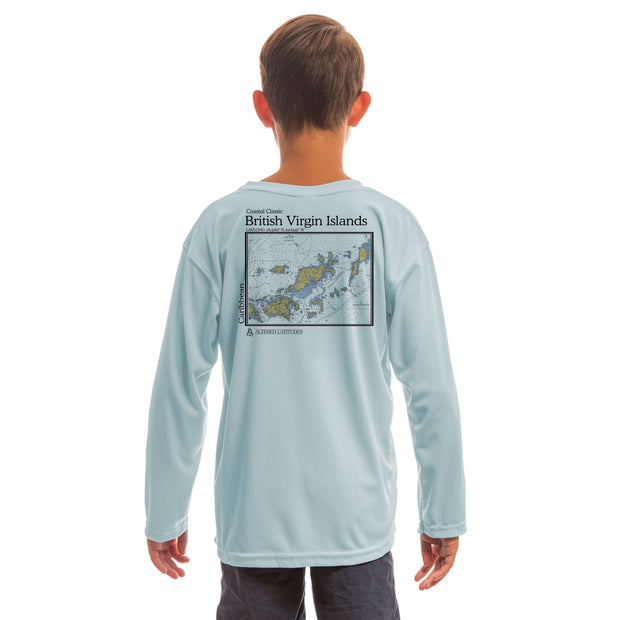 Coastal Classics British Virgin Islands Youth UPF 50+ UV/Sun Protection Long Sleeve T-Shirt - Altered Latitudes