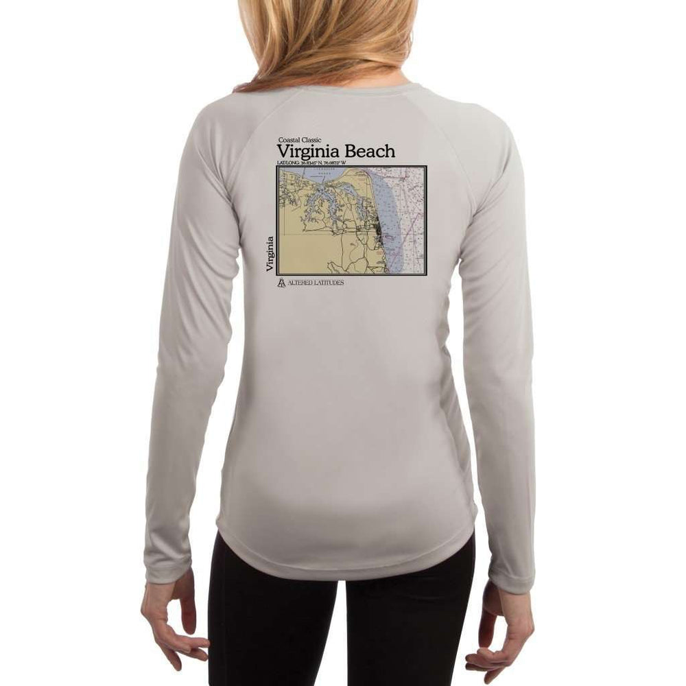 Coastal Classics Virginia Beach Womens Upf 5+ Uv/sun Protection Performance T-Shirt Pearl Grey / X-Small Shirt