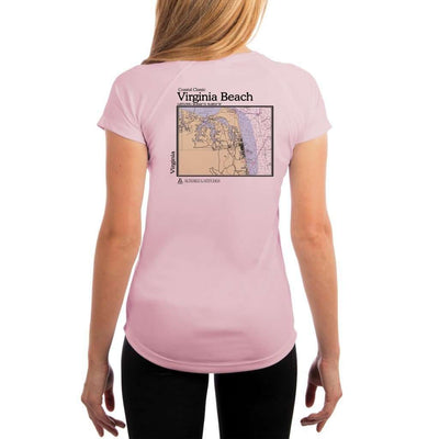 Coastal Classics Virginia Beach Womens Upf 5+ Uv/sun Protection Performance T-Shirt Pink Blossom / X-Small Shirt