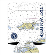 Altered Latitudes Jost Van Dyke, BVI Chart Standard Can Cooler (4-Pack)