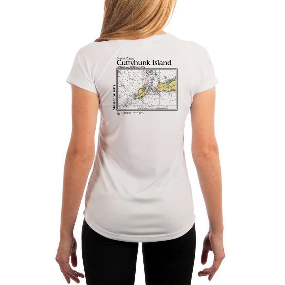 Coastal Classics Cuttyhunk Island Womens Upf 5+ Uv/sun Protection Performance T-Shirt White / X-Small Shirt