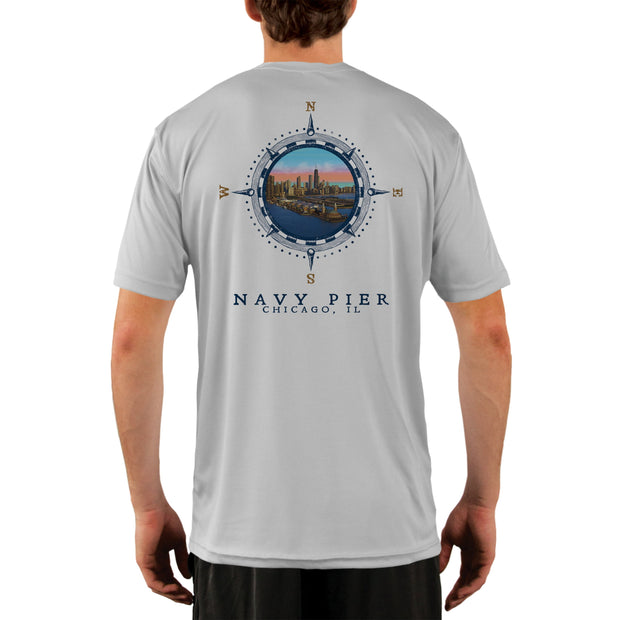 Compass Vintage Navy Pier Men's UPF 50+ Short Sleeve T-shirt