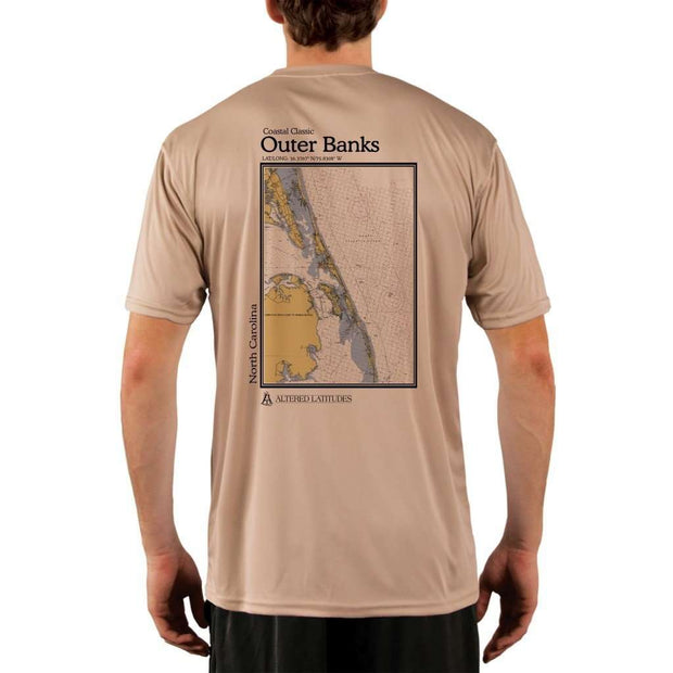 Coastal Classics Outer Banks Mens Upf 5+ Uv/sun Protection Performance T-Shirt Tan / X-Small Shirt