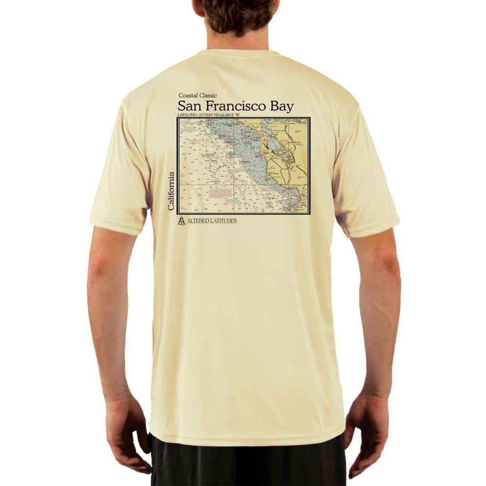 Coastal Classics San Francisco Bay Mens Upf 5+ Uv/sun Protection Performance T-Shirt Pale Yellow / X-Small Shirt