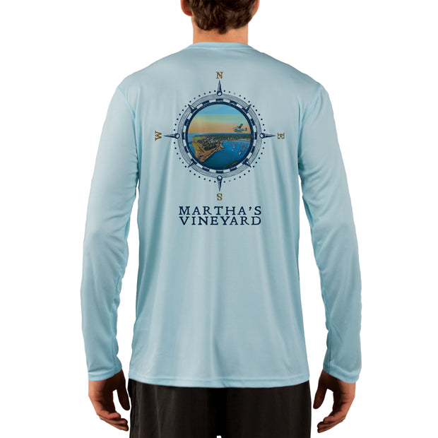 Compass Vintage Marthas Vineyard Men's UPF 50+ Long Sleeve T-Shirt