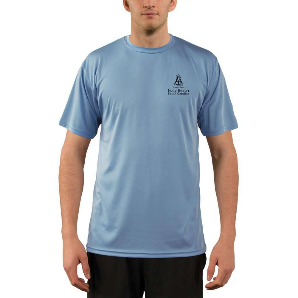 Coastal Classics Folly Beach Mens Upf 5+ Uv/sun Protection Performance T-Shirt Shirt