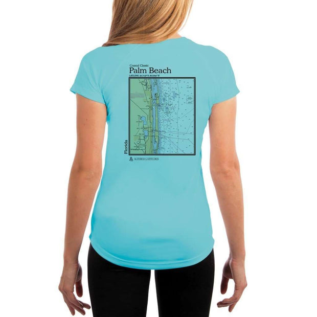 Coastal Classics Palm Beach Womens Upf 5+ Uv/sun Protection Performance T-Shirt Water Blue / X-Small Shirt