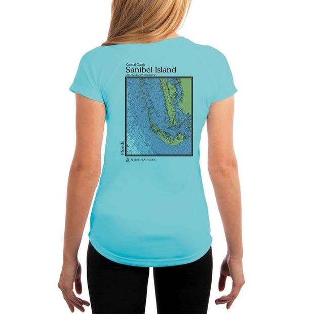 Coastal Classics Sanibel Island Womens Upf 5+ Uv/sun Protection Performance T-Shirt Water Blue / X-Small Shirt