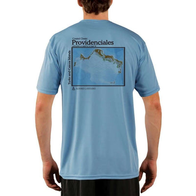 Coastal Classics Providenciales Mens Upf 5+ Uv/sun Protection Performance T-Shirt Columbia Blue / X-Small Shirt