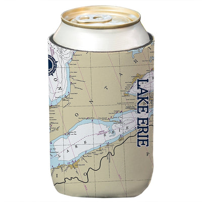 Altered Latitudes Lake Erie Chart Standard Can Cooler (4-Pack)