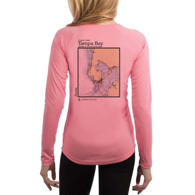 Coastal Classics Tampa Bay Womens Upf 5+ Uv/sun Protection Performance T-Shirt Pretty Pink / X-Small Shirt