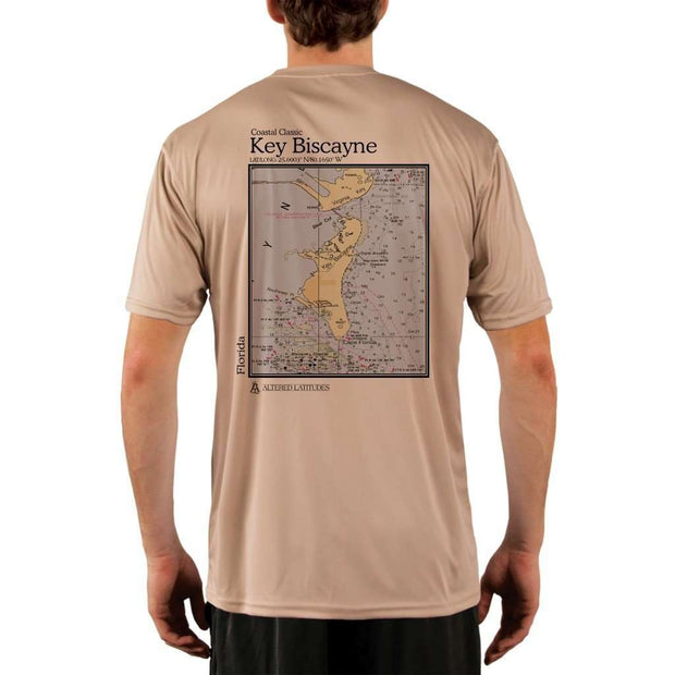 Coastal Classics Key Biscayne Mens Upf 5+ Uv/sun Protection Performance T-Shirt Tan / X-Small Shirt