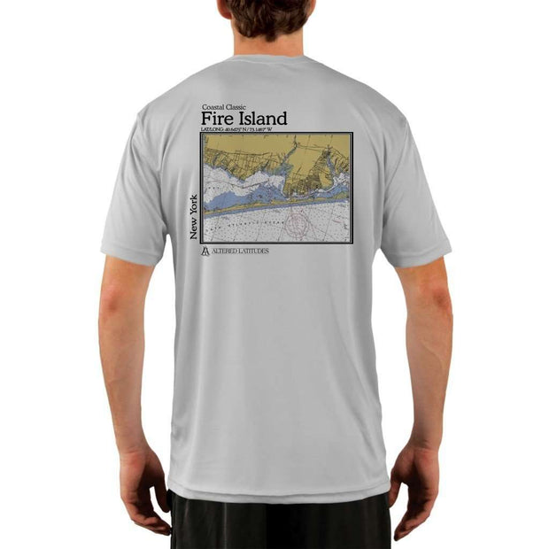 Coastal Classics Fire Island Mens Upf 5+ Uv/sun Protection Performance T-Shirt Pearl Grey / X-Small Shirt