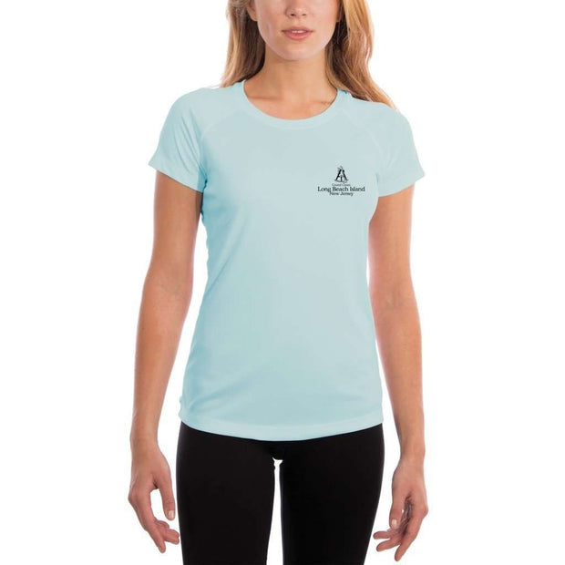 Coastal Classics Long Beach Island Womens Upf 5+ Uv/sun Protection Performance T-Shirt Shirt