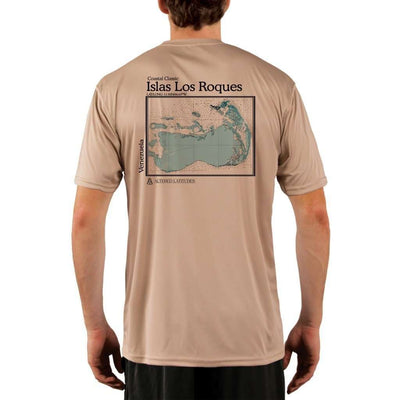 Coastal Classics Islas Los Roques Mens Upf 5+ Uv/sun Protection Performance T-Shirt Tan / X-Small Shirt