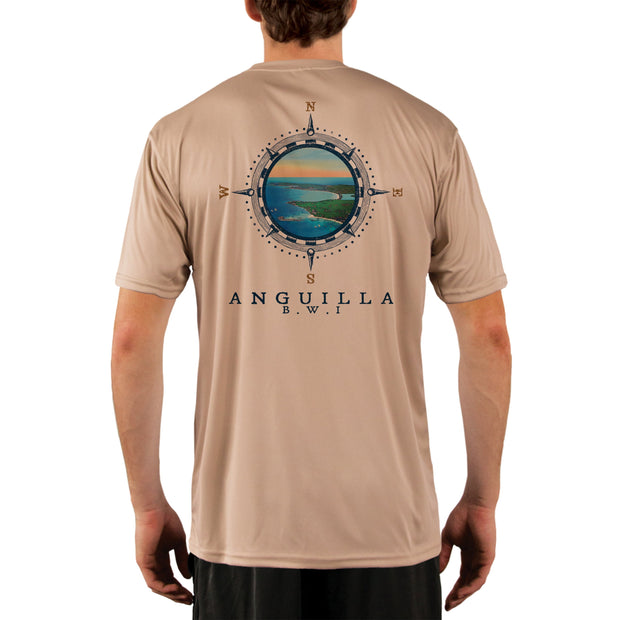Compass Vintage Anguilla Men's UPF 50+ Short Sleeve T-shirt