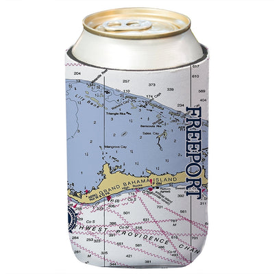 Altered Latitudes Freeport Chart Standard Can Cooler (4-Pack)