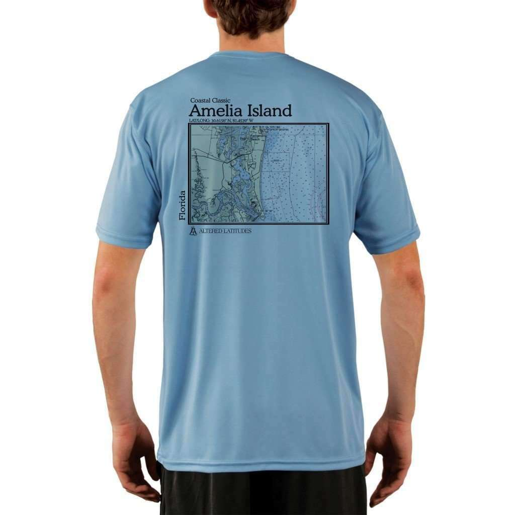 Coastal Classics Amelia Island Mens Upf 50+ Uv/sun Protection Performance T-Shirt Columbia Blue / X-Small Shirt