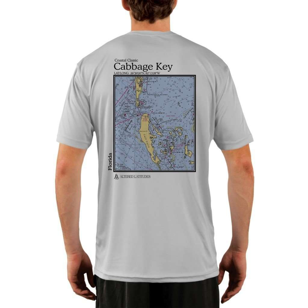 Coastal Classics Cabbage Key Mens Upf 50+ Uv/sun Protection Performance T-Shirt Pearl Grey / X-Small Shirt