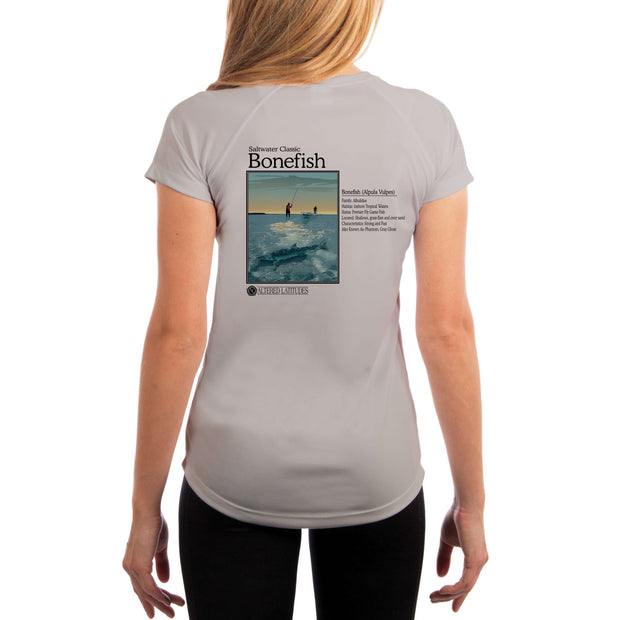 Saltwater Classic Bonefish Women's UPF 5+ UV/Sun Protection Short Sleeve T-Shirt - Altered Latitudes