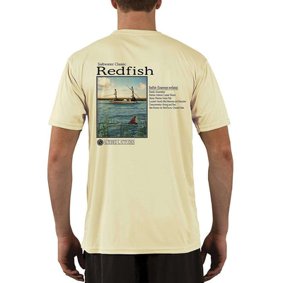 Altered Latitudes Saltwater Classic Redfish Men's UPF 50+ Short Sleeve T-Shirt - Altered Latitudes