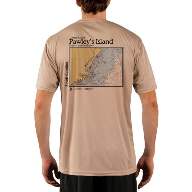 Coastal Classics Pawleys Island Mens Upf 5+ Uv/sun Protection Performance T-Shirt Tan / X-Small Shirt