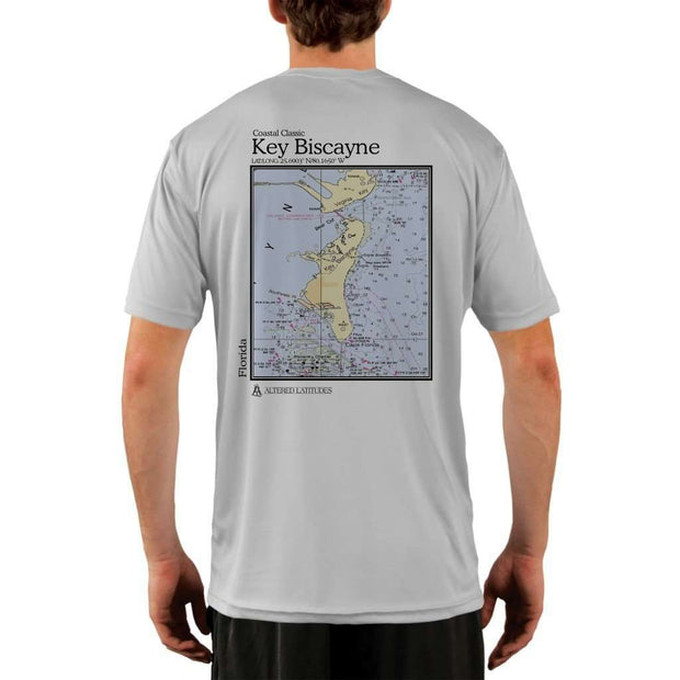 Coastal Classics Key Biscayne Mens Upf 5+ Uv/sun Protection Performance T-Shirt Pearl Grey / X-Small Shirt
