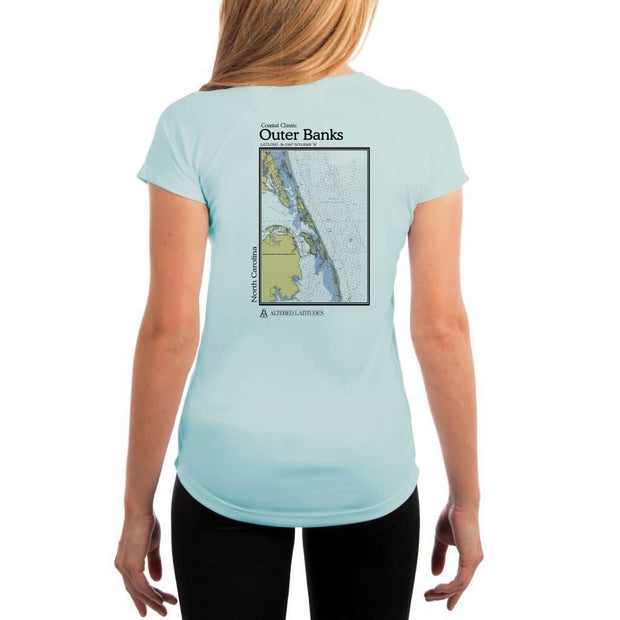 Coastal Classics Outer Banks Womens Upf 5+ Uv/sun Protection Performance T-Shirt Arctic Blue / X-Small Shirt
