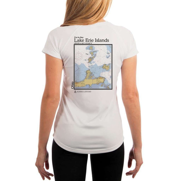 Coastal Classics Lake Erie Islands Womens Upf 5+ Uv/sun Protection Performance T-Shirt White / X-Small Shirt