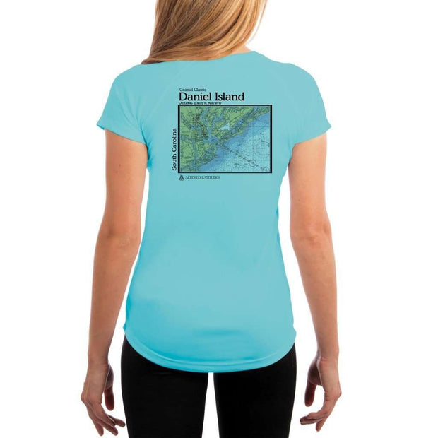 Coastal Classics Daniel Island Womens Upf 5+ Uv/sun Protection Performance T-Shirt Water Blue / X-Small Shirt