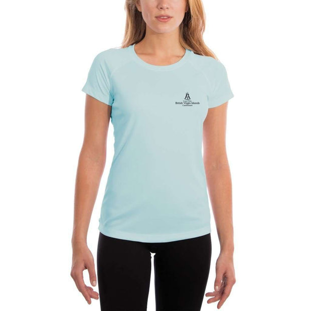 Coastal Classics British Virgin Islands Womens Upf 5+ Uv/sun Protection Performance T-Shirt Shirt