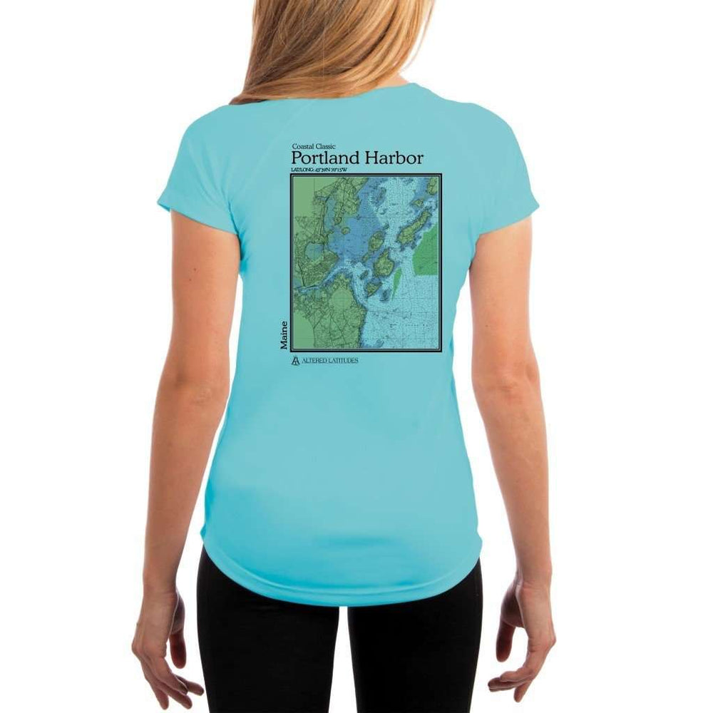 Coastal Classics Portland Harbor Womens Upf 5+ Uv/sun Protection Performance T-Shirt Water Blue / X-Small Shirt