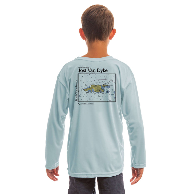 Coastal Classics Jost Van Dyke Youth UPF 50+ UV/Sun Protection Long Sleeve T-Shirt