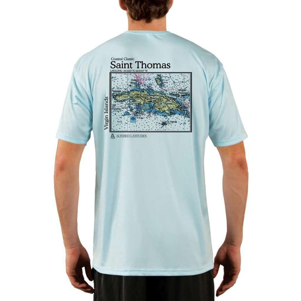 Coastal Classics Saint Thomas Mens Upf 5+ Uv/sun Protection Performance T-Shirt Arctic Blue / X-Small Shirt