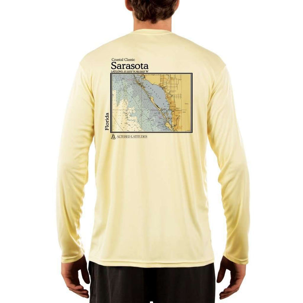 Coastal Classics Sarasota Mens Upf 5+ Uv/sun Protection Performance T-Shirt Pale Yellow / X-Small Shirt