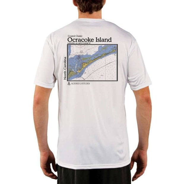 Coastal Classics Ocracoke Island Mens Upf 5+ Uv/sun Protection Performance T-Shirt White / X-Small Shirt