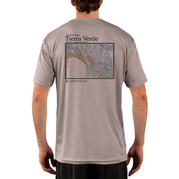 Coastal Classics Tierra Verde Mens Upf 5+ Uv/sun Protection Performance T-Shirt Athletic Grey / X-Small Shirt