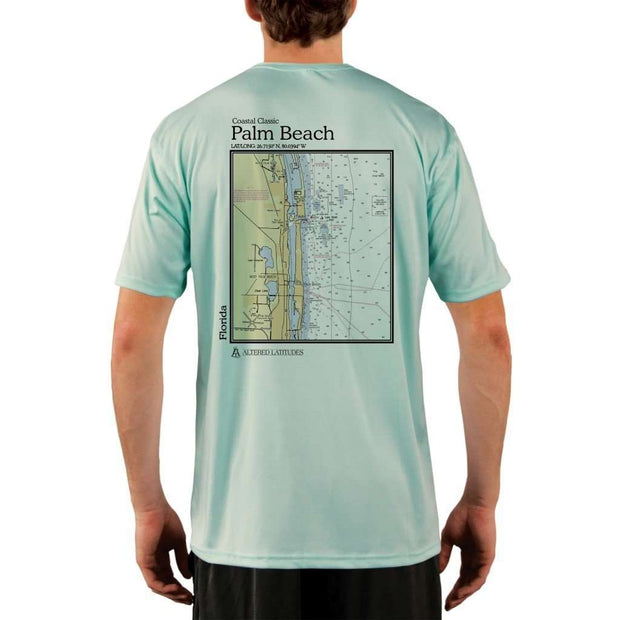 Coastal Classics Palm Beach Mens Upf 5+ Uv/sun Protection Performance T-Shirt Seagrass / X-Small Shirt