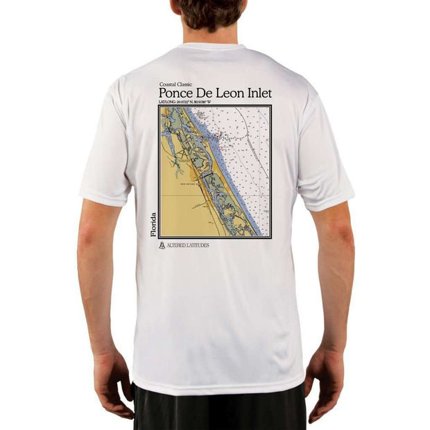 Coastal Classics Ponce De Leon Inlet Mens Upf 5+ Uv/sun Protection Performance T-Shirt White / X-Small Shirt