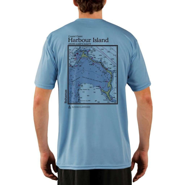 Coastal Classics Harbour Island Mens Upf 5+ Uv/sun Protection Performance T-Shirt Columbia Blue / X-Small Shirt