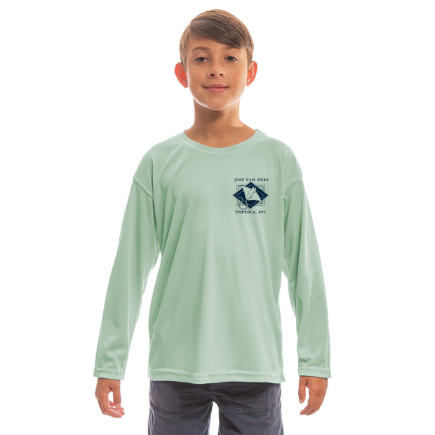 Coastal Quads Jost Van Dyke Youth UPF 50+ UV/Sun Protection Long Sleeve T-Shirt