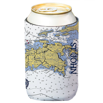 Altered Latitudes St. John Chart Standard Beverage Cooler (4-Pack)