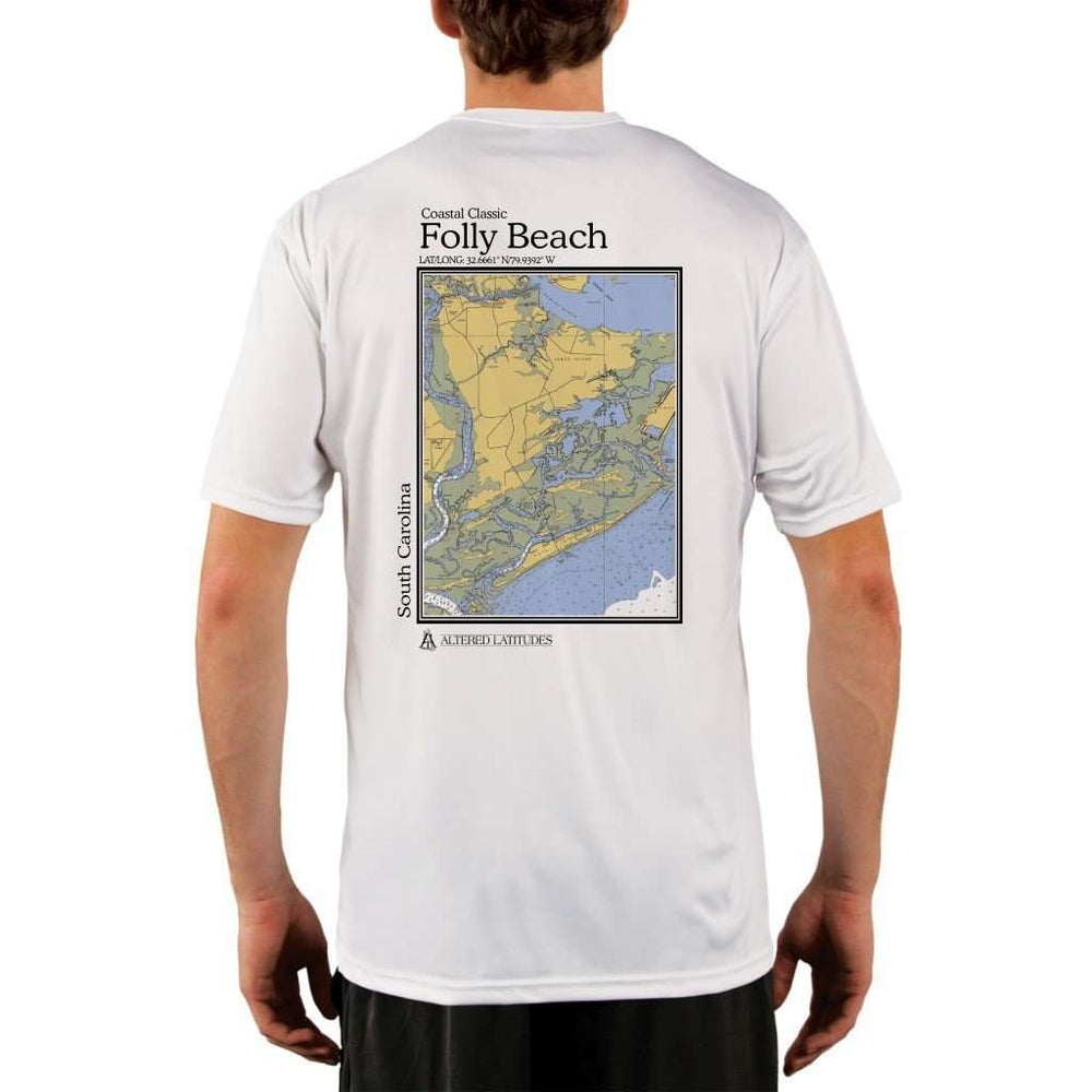 Coastal Classics Folly Beach Mens Upf 5+ Uv/sun Protection Performance T-Shirt White / X-Small Shirt