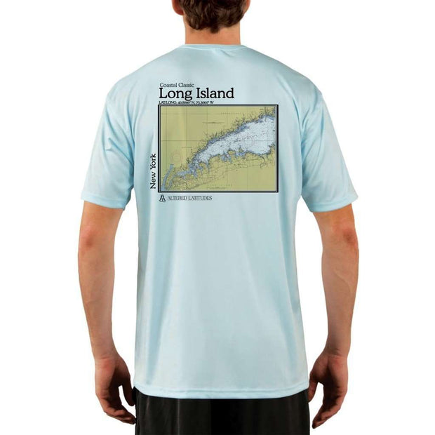 Coastal Classics Long Island Mens Upf 5+ Uv/sun Protection Performance T-Shirt Arctic Blue / X-Small Shirt
