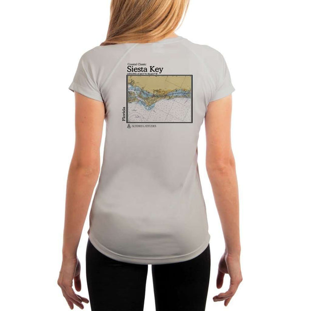 Coastal Classics Siesta Key Womens Upf 5+ Uv/sun Protection Performance T-Shirt Pearl Grey / X-Small Shirt