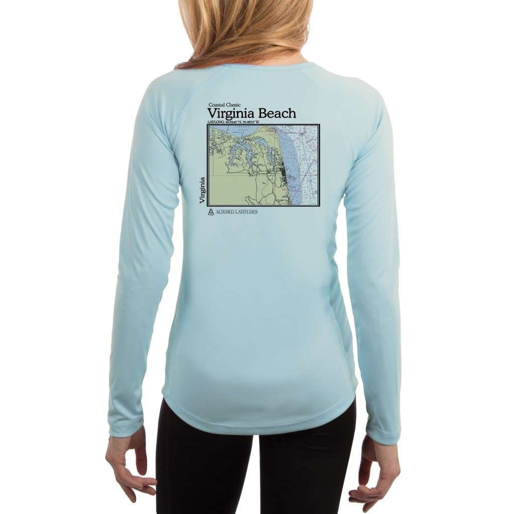 Coastal Classics Virginia Beach Womens Upf 5+ Uv/sun Protection Performance T-Shirt Arctic Blue / X-Small Shirt