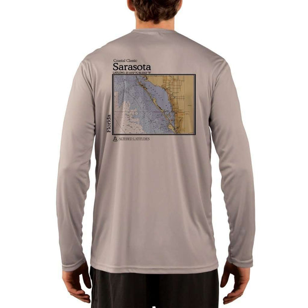 Coastal Classics Sarasota Mens Upf 5+ Uv/sun Protection Performance T-Shirt Athletic Grey / X-Small Shirt