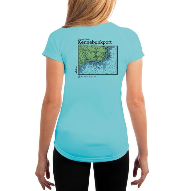 Coastal Classics Kennebunkport Womens Upf 5+ Uv/sun Protection Performance T-Shirt Water Blue / X-Small Shirt